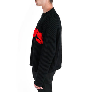 Jaws Distressed Knit Sweater