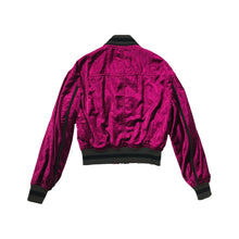 Load image into Gallery viewer, Purple Runway Velvet Bomber