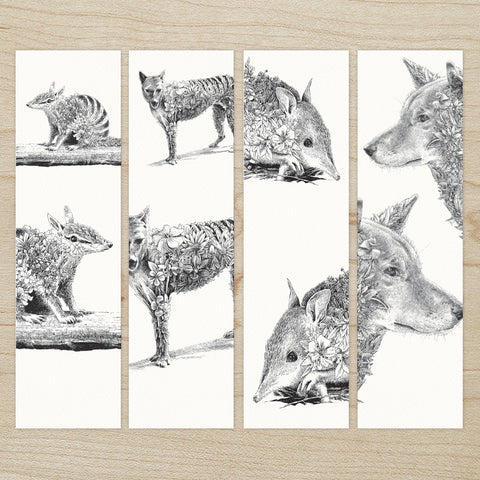 Australian Wildlife - Bookmark Set of 8