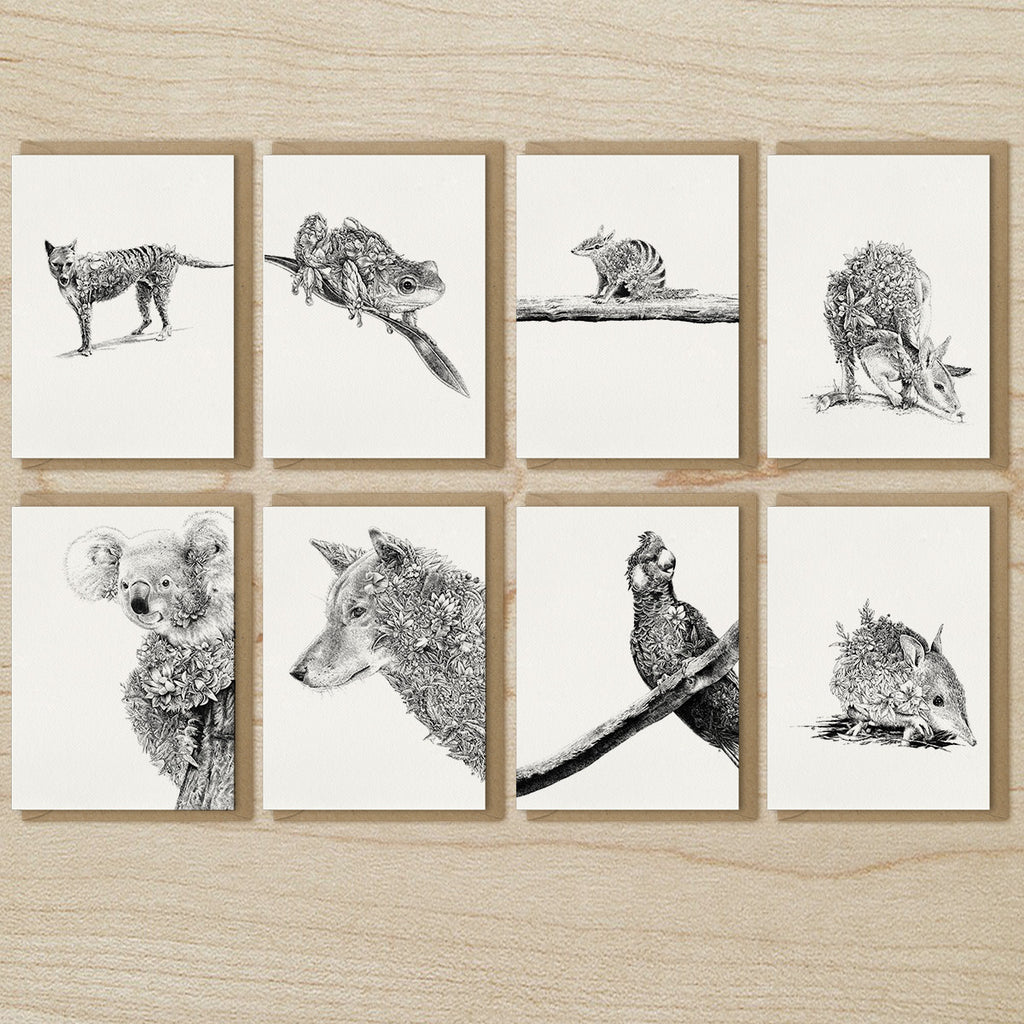 Australian Wildlife - Greeting Card Set