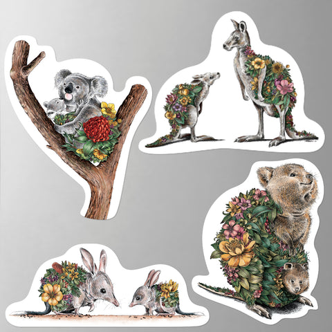 Australian Families - Fridge Magnet Set 1