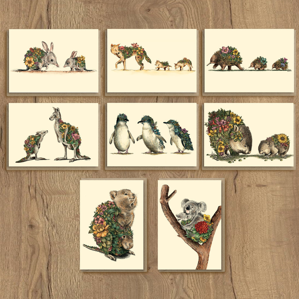 Australian Families - Greeting Card Set