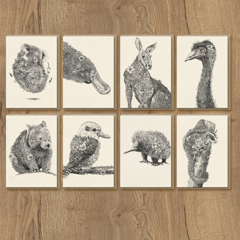Australian Wildlife Friends - Greeting Card Set