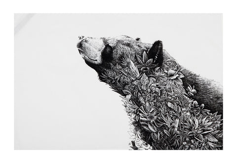 Asiatic Black Bear - Tea Towel