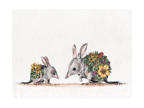 Bilby & Joey - Tea Towel