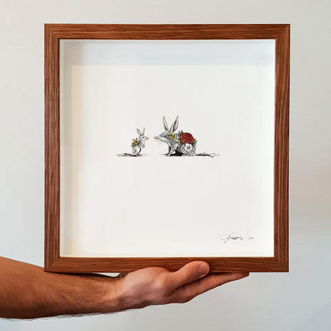 Bilby Joey & Mother - Giclée Print