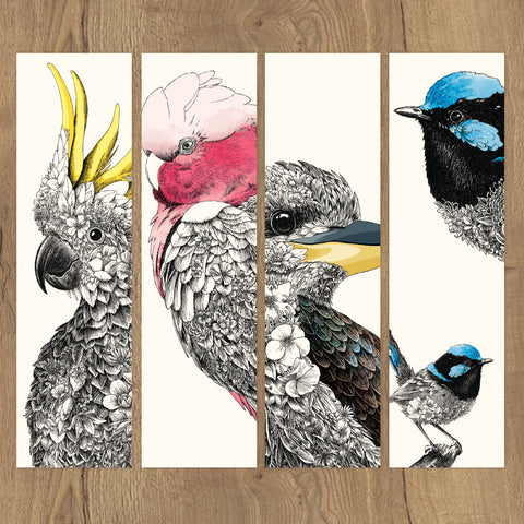 Birds of Australia - Bookmark Set of 12