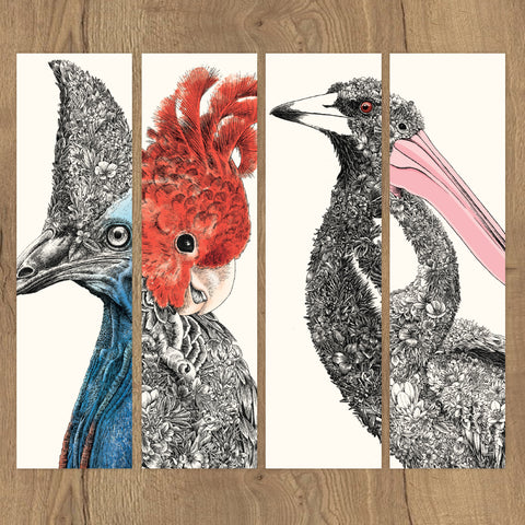 Birds of Australia - Bookmark Set of 8