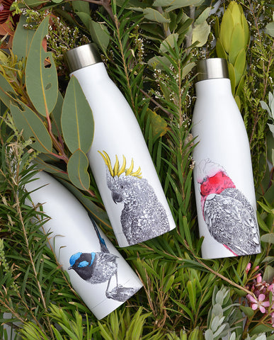 Superb Fairy-wren - Double Wall Insulated Bottle 500ml
