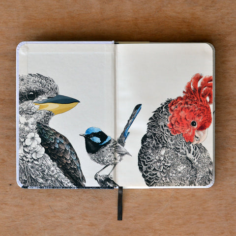 Sulphur-Crested Cockatoo - Hard Cover Writing Journal