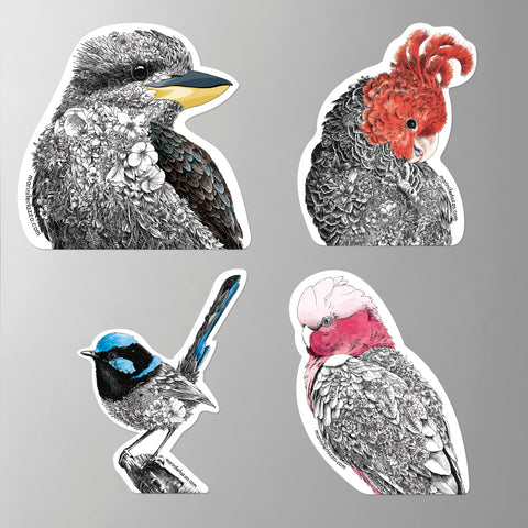 Birds of Australia - Fridge Magnet Set 1