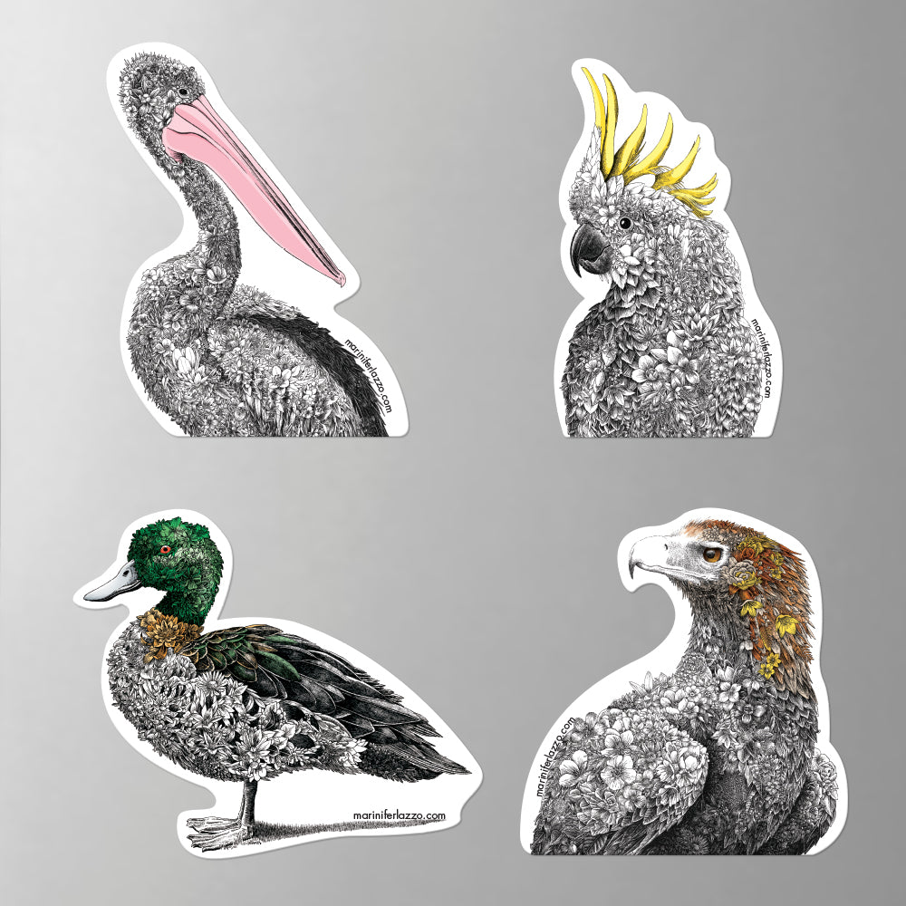 Birds of Australia - Fridge Magnet Set 2