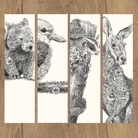 Australian Friends - Bookmark Set of 8