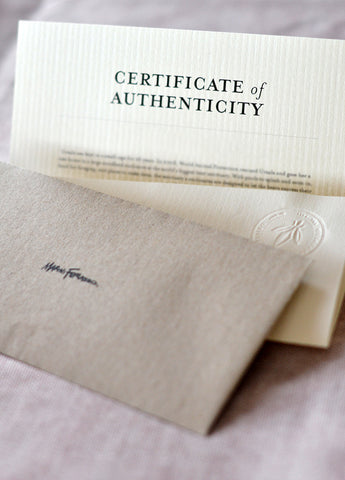 Marini Ferlazzo Certificate of Authenticity