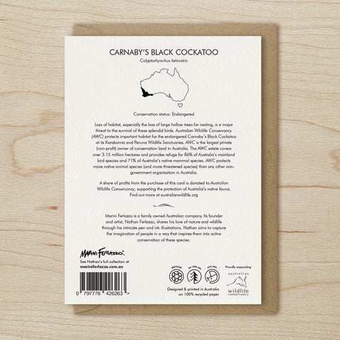 Carnaby's Black Cockatoo - Greeting Cards
