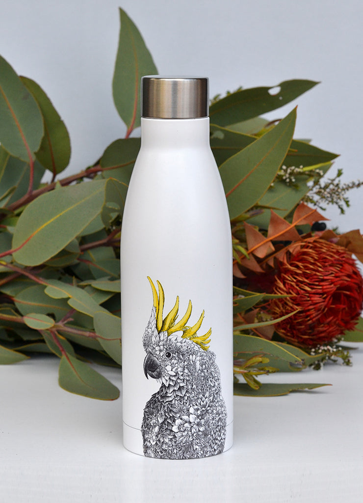 Sulphur-crested Cockatoo - Double Wall Insulated Bottle 500ml