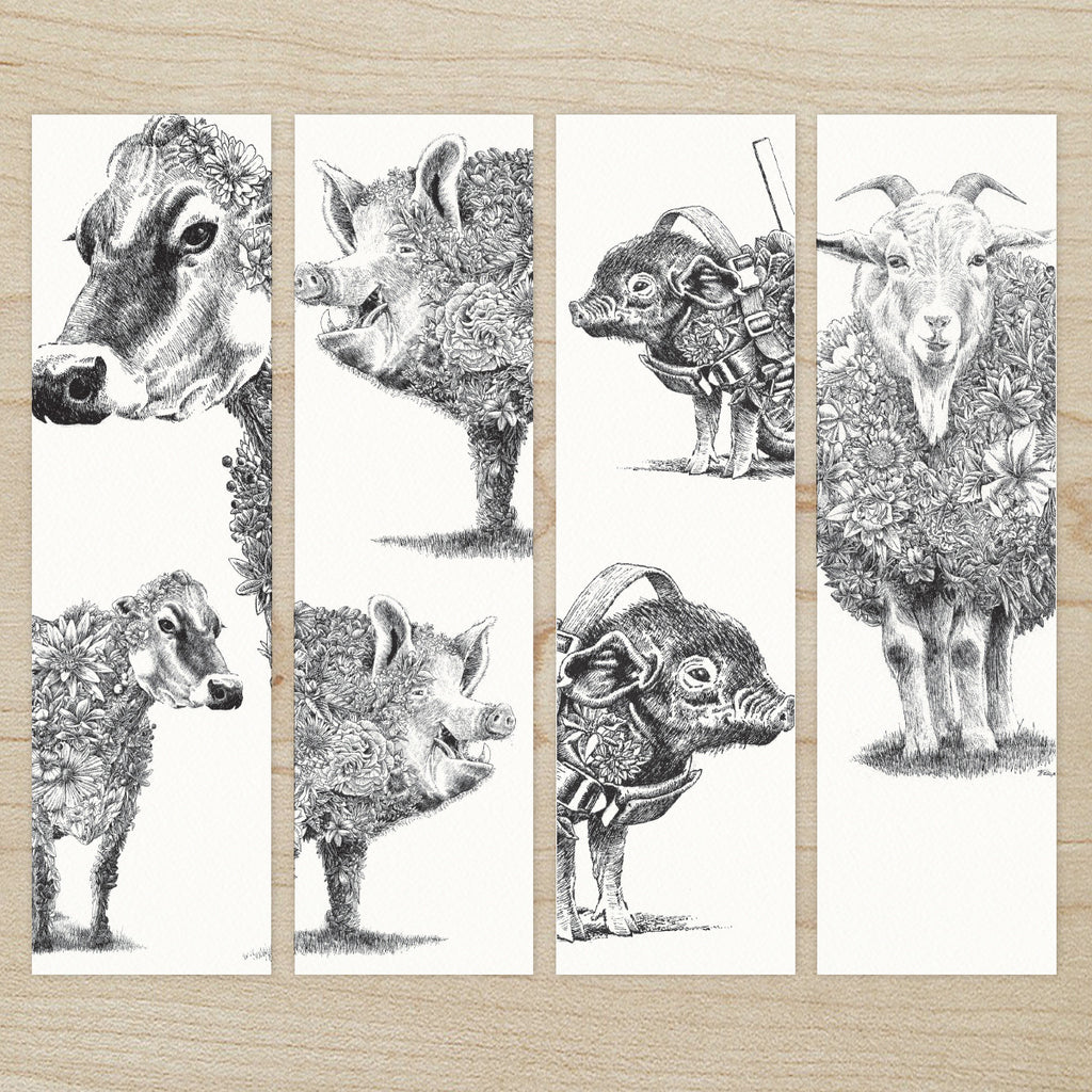 Farm Friends - Bookmark Set of 8