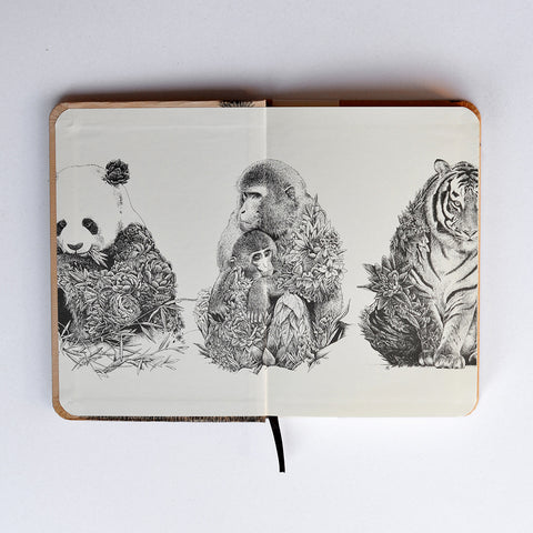 Asian Elephant - Hard Cover Writing Journal