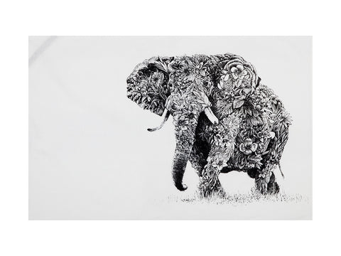 African Elephant - Tea Towel