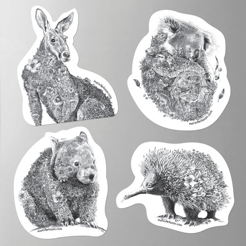 Australian Wildlife - Fridge Magnet Set (Bush Animals)