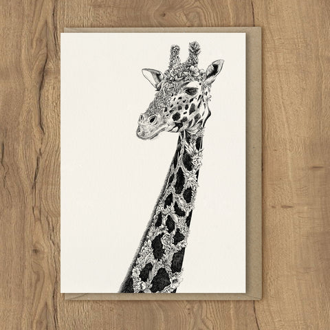 West African Giraffe - Greeting Cards