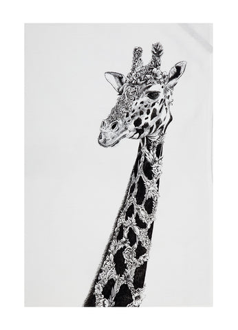 West African Giraffe - Tea Towel