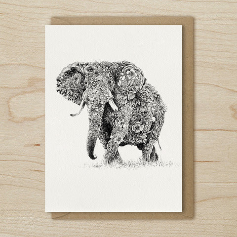 African Elephant - Greeting Cards