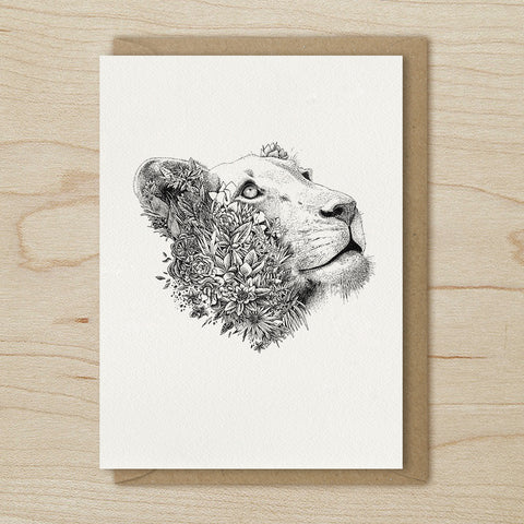 White Lioness - Greeting Cards