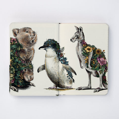 Echidna & Puggles - Hard Cover Writing Journal