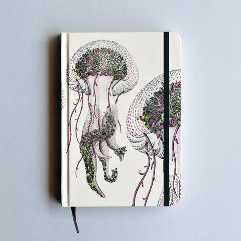 Mauve Jellyfish - Hard Cover Writing Journal