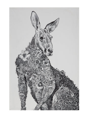 Red Kangaroo - Tea Towel