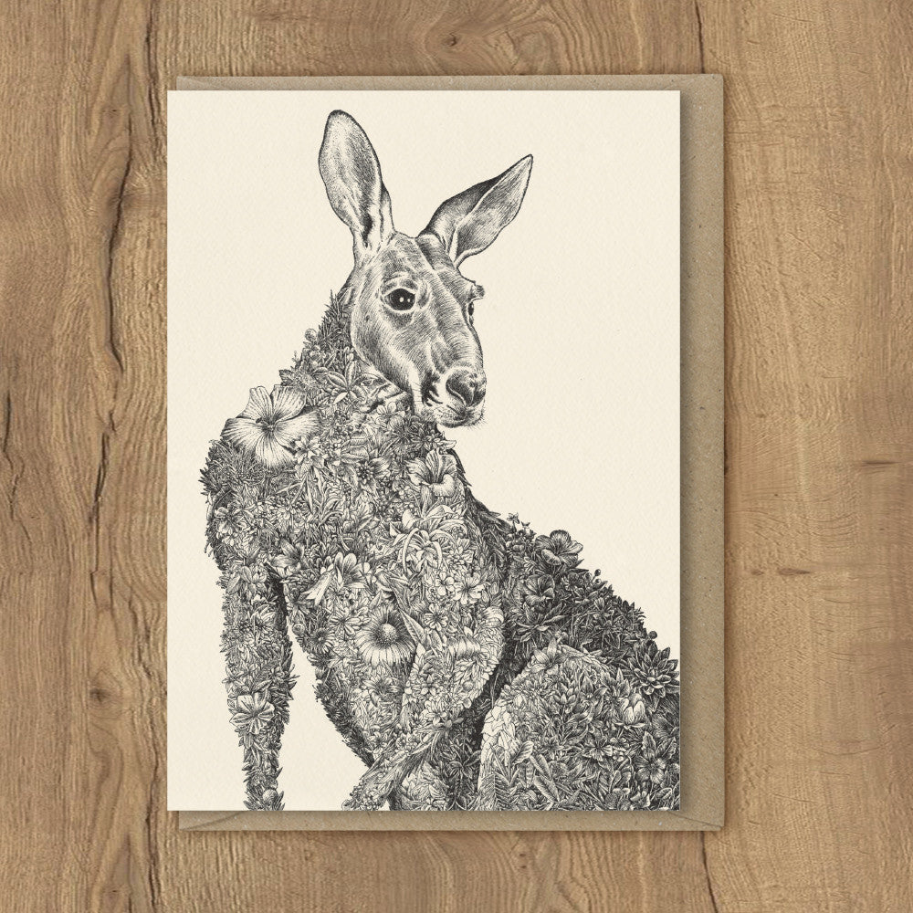 Red Kangaroo - Greeting Cards