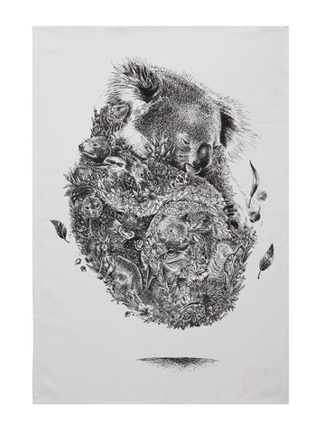 Koala & Friends - Tea Towel