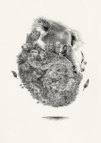 Koala & Friends - Giclée Print