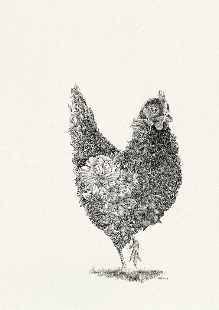 Little Miss Sunshine (chicken) - Giclée Print