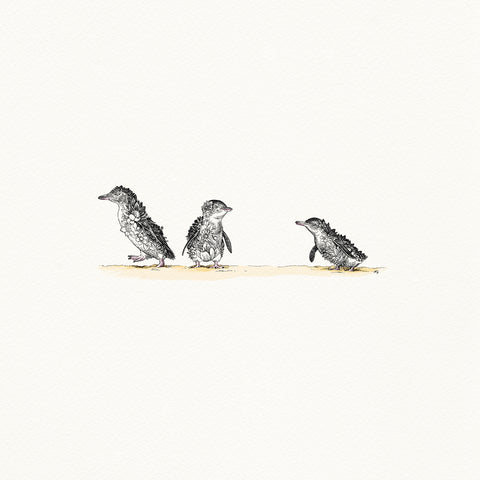 Little Penguins - Giclée Print