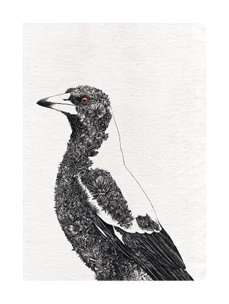 Magpie - Tea Towel