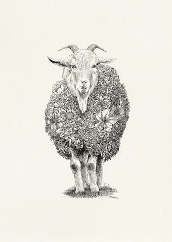Miss Chief (goat) - Giclée Print