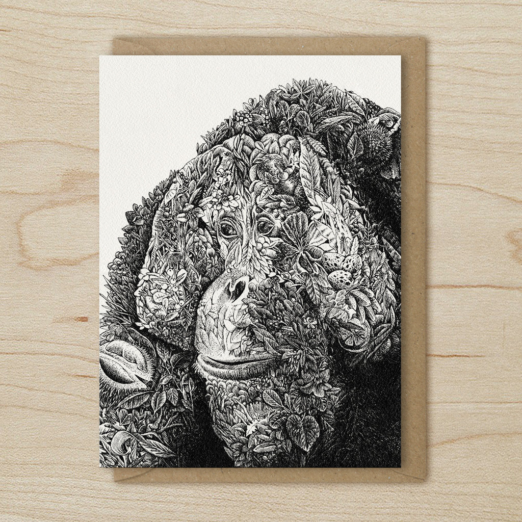 Monte the Orangutan - Greeting Cards