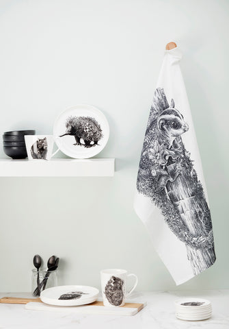 Carnaby's Black Cockatoo - Tea Towel