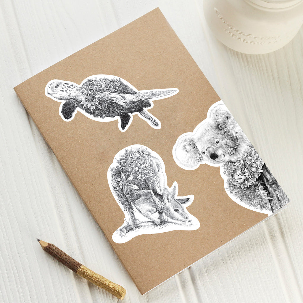 Turtle Vinyl Sticker Marini Ferlazzo Art For Wildlife