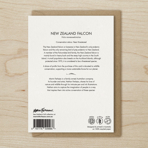 New Zealand Falcon - Greeting Cards
