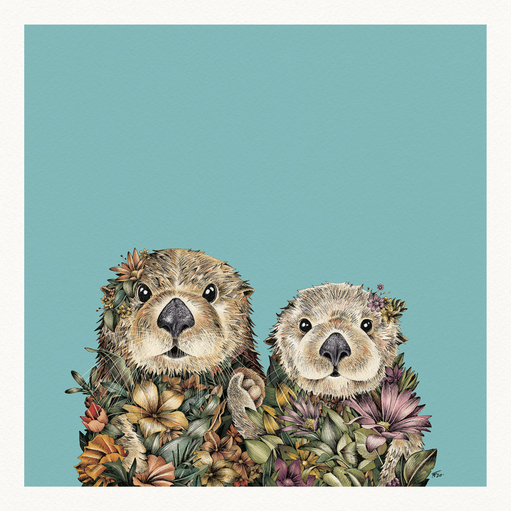 Sea Otters - Giclée Print