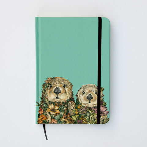 Sea Otters - Hard Cover Writing Journal