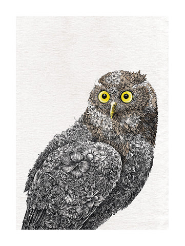 Barking Owl - Tea Towel
