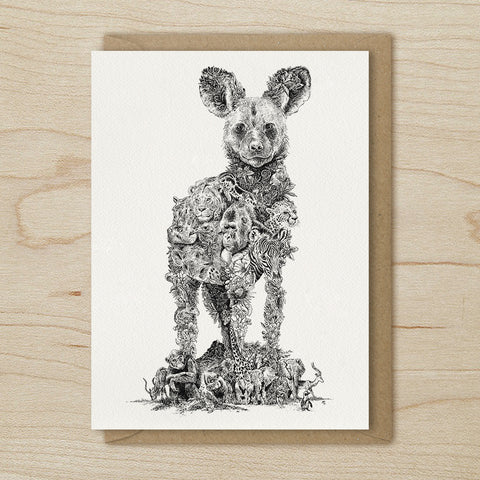 African Painted Dog - Greeting Cards