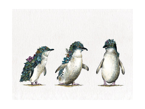 Penguin Parade - Tea Towel