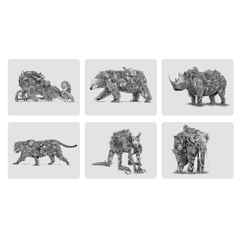 Animal Earth Placemat Set - By Maxwell & Williams