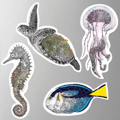 Reef Life - Fridge Magnet Set 2
