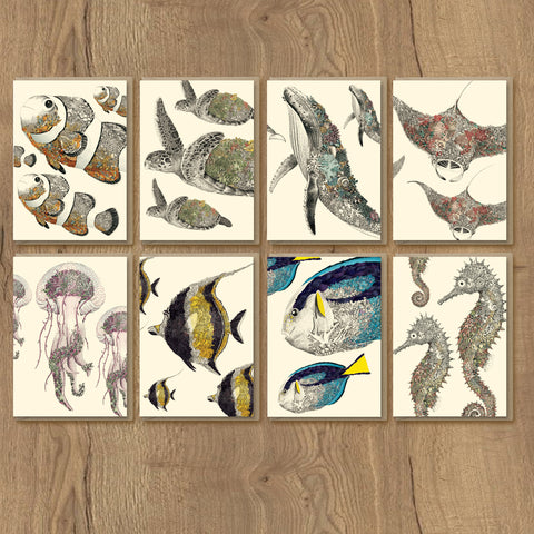 Reef Life - Greeting Card Set